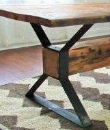 Modern Industrial Dining Table X Legs Model TTS09B with 2 Braces  Ideas De Muebles  Mesas de metal Mesa de acero y Muebles industriales