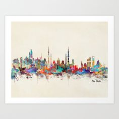 Abu Dhabi skyline (For Sale)