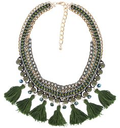 TASSEL NECKLACE GREEN