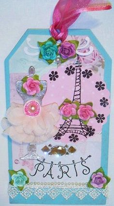 Paris Tag with silver dress form