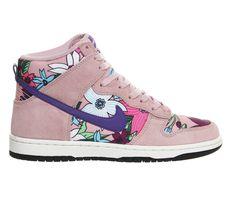 Nike Dunk Hi Skinny Pink Aloha Print