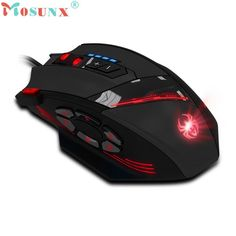 Adroit C-12 Programmable 12 Buttons LED Optical USB Wired Professional Gaming Mouse Gamer Mice 4000 DPI DEC4 drop shipping