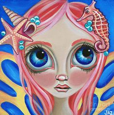 Art Painting - Oceanic Fairy by Jaz Higgins