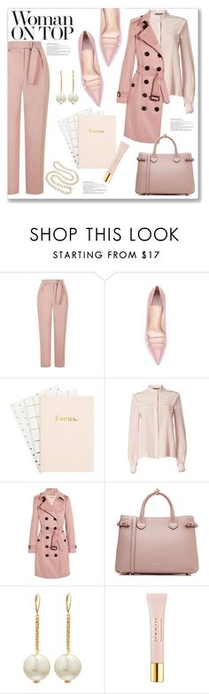 """Woman On Top"" by queenvirgo ❤ liked on Polyvore featuring Topshop, Gucci, Raoul, Burberry, Kenneth Jay Lane, JULIANNE, AERIN and DaVonna"