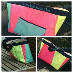 Upcycle surf new colorful bag