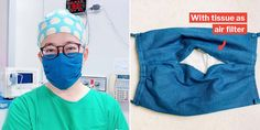 The Taiwanese doctor teaches how to make a fabric face mask with an air filter, so no need .The Taiwanese doctor teaches how to make a fabric face mask with an air filter so that Sewing Patterns Free, Free Sewing, Sewing Tutorials, Sewing Hacks, Free Pattern, Sewing Projects, Pattern Sewing, Sewing Crafts, Pocket Pattern