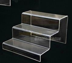 3 Step Acrylic Display Product Retail Display Counter Stand Large Perspex Stand