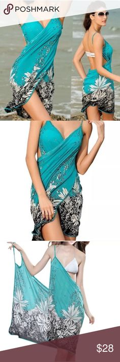BRACH WRAP cover up SWIM WEAR bathing suit sarong Resort wear cover up for all…