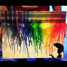 How to Make a Crayon Canvas