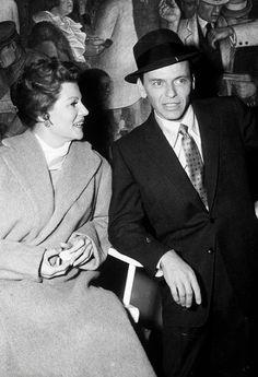 Frank Sinatra and Rita Hayworth on the set of Pal Joey (1957)