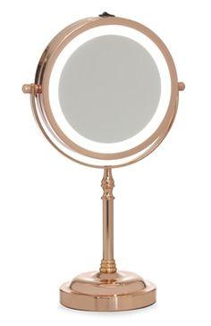 Espelho de mesa iluminado Primark Homeware, Diy Room Decor, Bedroom Decor, Rangement Makeup, Rose Gold Rooms, Uni Room, Glam Room, Makeup Rooms, Makeup Vanities