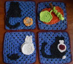 (l.16-02-15).4 cuadrados para la esquina de la manta de auyama y gatos