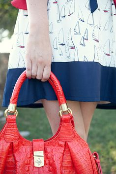 Nautical prints are a classic Summer fave... @Kendi Everyday #Brahmin