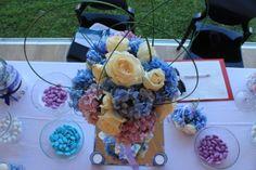 Confettata con crisantemi