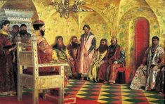 Tzar Mikhail Fedorovich Holding Council with the Boyars in His R - : Canvas Art, Oil Painting Reproduction, Art Commission, Pop Art, Canvas Painting Russian Painting, Russian Art, Art Pop, John Singer Sargent, Art Database, Oil Painting Reproductions, Conte, Les Oeuvres, Art Gallery