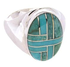 Sterling Silver Southwest Turquoise Ring Size 9 PS62564