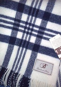 navy & white checked blanket £42.99