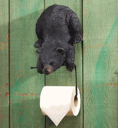Hanging Bear Cub Toilet Paper Holder