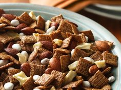 Cinnamon Apple Chex Mix (with dried apples and yogurt covered raisins)