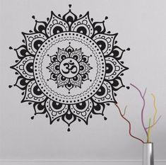 Namaste Mandala Wall Sticker - Black or White