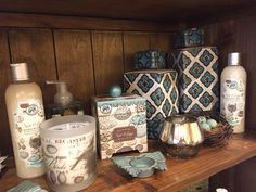 As seen at Interiors & Designs by Ursula in Ridgefield, CT. Great mix of products along with our Nest & Eggs collection. Tin Candles, Soy Wax Candles, Wooden Vanity, Kitchen Clocks, Scented Sachets, Large Baths, Vanity Tray, Store Displays, Home Fragrances