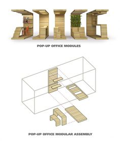POP-UP Office Installation / Dubbeldam Architecture + Design Idea para biblioteca 1 piso ...delimitarla con suelo..pared..techo