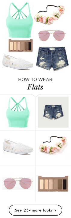 """Spring outfit"" by unikitty32 on Polyvore featuring LE3NO, Abercrombie & Fitch, TOMS, Boohoo and Urban Decay"