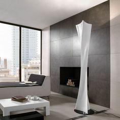 Pie de salón colección Twist de Mantra - Fibra de vidrio lacado en blanco 180x38cm