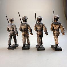 Lineol 8 Marine Soldaten Matrosen mit Gewehr im Marsch (40159) | eBay