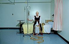 """Another in the """"Happily Never After"""" series, showing Rapunzel with the effects of chemotherapy."""