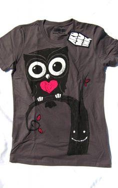 camiseta buho con corazon