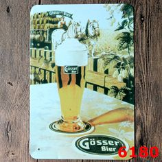Cool Beer Photo Ad Poster Tin Signs Retro Wall Poster Plaques Iron Sticker Craft Pub Bar Resturant Party decor 20*30CM(China (Mainland))