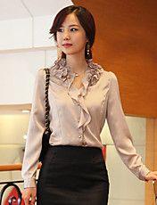 Women's Elegant Ruffle Puff Sleeve Shirt – EUR € 19.79