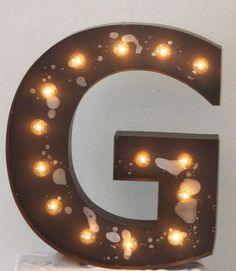 Big 16 Old Vintage Style Marquee Letters Metal by JunkArtGypsyz, $119.90