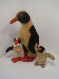 A Family of Vintage Steiff Penguins  by Steiffgal, via Flickr