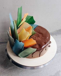 Brushstroke Cake Gâteaux Pinterest Cake Fancy Cakes And - Russian bakery uses brushstroke decorations to create the most amazing cakes