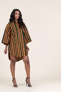 African Print Shirt, African Print Clothing, African Print Fashion, Africa Fashion, African Fashion Dresses, Ankara Fashion, African Attire, African Dress, African Tops