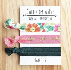 Bohemian Summer Hair Tie Set of 3 by CaliforniaAve on Etsy