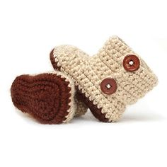 Precious crocheted baby booties