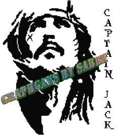 Captain Jack Crochet Graph by GraphgansBySabre on Etsy Buy one get one free Today only!!! https://www.etsy.com/shop/GraphgansBySabre?ref=l2-about-shopname