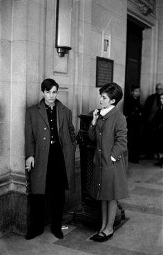 Jean-Pierre Léaud and Marie-France Pisier on the set of Antoine et Colette, 1962, by François Truffaut.