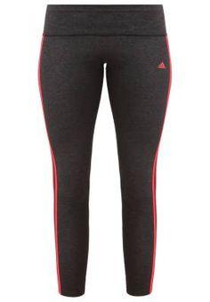 f7683e6ab70e Adidas Performance Essentials Medias Black Melange Shock Red Pantalones De  Deporte Para Mujer Es hora de