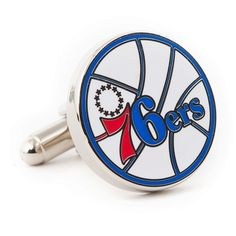 $60.00 NBA Philadelphia 76ers Cufflinks http://www.walletoutlet.com/ #cufflinks #NBA #76ers