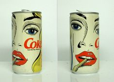 How cool, retro and pop are these vintage Coke Cans!!