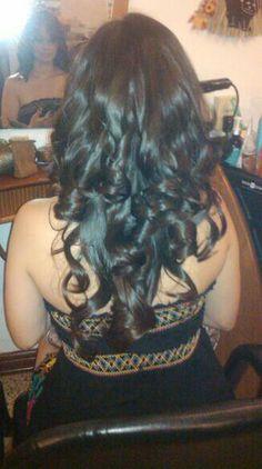 Corte en capas en cabello largo