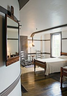 Bedroom in the East Family Dwelling House at the Shaker Village in Pleasant Hill, Kentucky