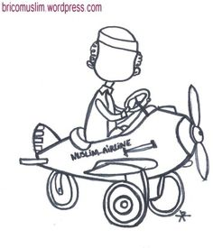 coloriage muslim airline
