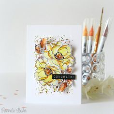 Happy Saturday to you! Couldn't resist another take on the Altenew November 2017 inspiration challenge 😄 . Altenew Beautiful Day Cards, Beautiful Handmade Cards, Card Making Inspiration, Making Ideas, 2017 Inspiration, November Challenge, Altenew Cards, Scrapbooking, Watercolor Cards