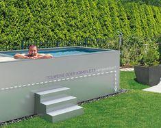 Mini Pool, Swimming Pool Designs, Swimming Pools, Riviera Pool, Patio Design, House Design, Kleiner Pool Design, Paint Your House, Small Backyard Pools