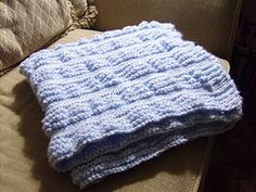 Ravelry: Garter Stitch Ruffles Baby Blanket pattern by Diane Starke